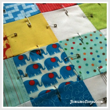 How to Make a Cotbed Quilt for Beginners, Step 7: Layering and Basting Your Quilt.