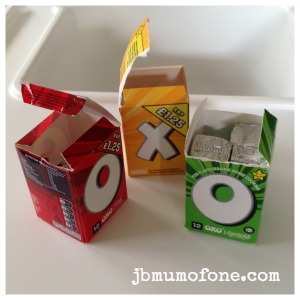 Coloured OXO boxes