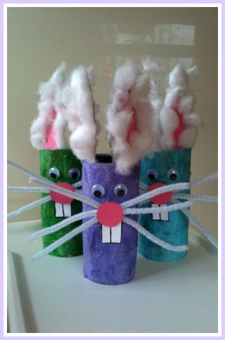 Easter Craft: Funny Bunnies