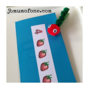 Hungry caterpillar numbers game for toddlers