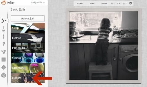 Resize Image in PicMonkey