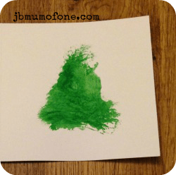toddler craft: paint xmas tree