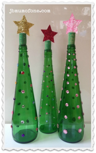 Green Bottle Christmas Trees