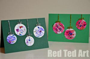 Homemade Xmas Cards from Red Ted Art