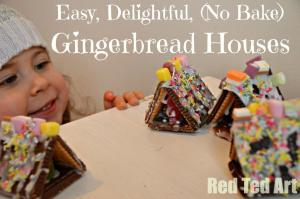 Gingerbread House From Red Ted Art