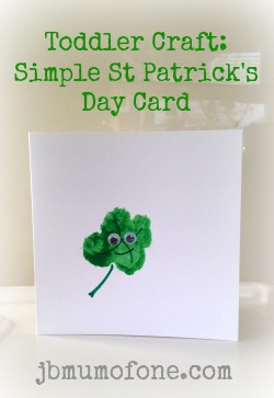 Toddler Craft Simple St Patrick's Day Card