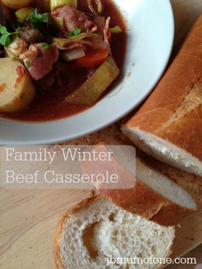 Family Winter Beef Casserole