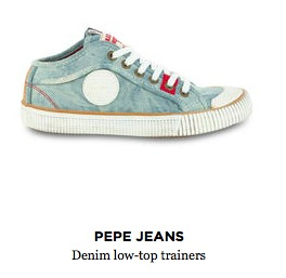 Pepe Jeans Denim Low-Top Trainers