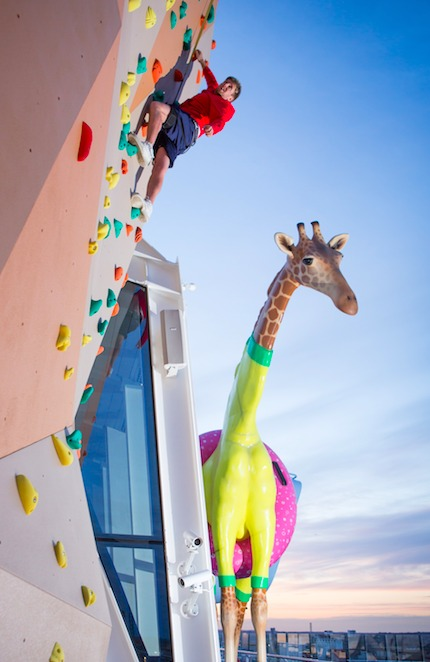 Anthem of the Seas Climbing Wall