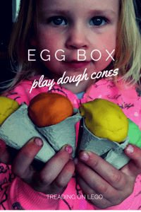 Egg box ice-cream cones