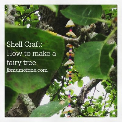 Shell Craft How to make a fairy tree
