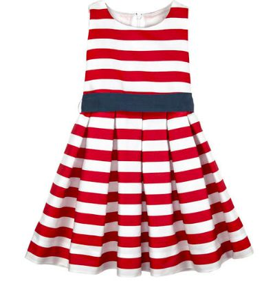 Striped girls dress