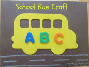 abc school bus craft