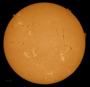 Sun 3-12-2013, Sunspot AR 1694