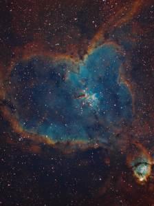 IC 1805, the heart nebula, ic 1795, ngc 896