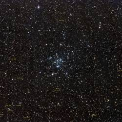 Messier 34 Annotated, M34 Annotated