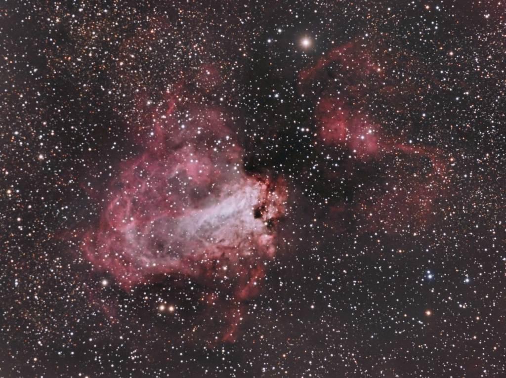 M17,Swan Nebula,Omega Nebula, NGC6618,Lobster Nebula