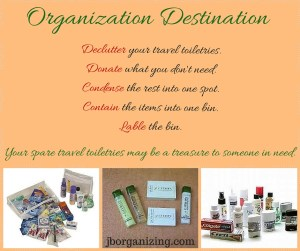 spare travel toiletries organization