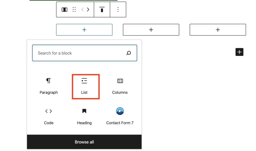 Graphic showing adding Blocks to columns