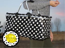 J Brandes carries Lemon Poppy picnic baskets