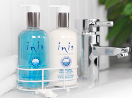 J Brandes carries Inis Hand Care Caddies