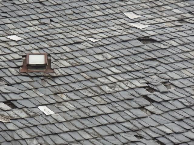 slate tile roof installation in