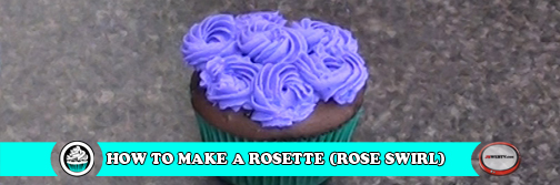 Simply How To Make A Rosette Rose Swirl On A Cupcake