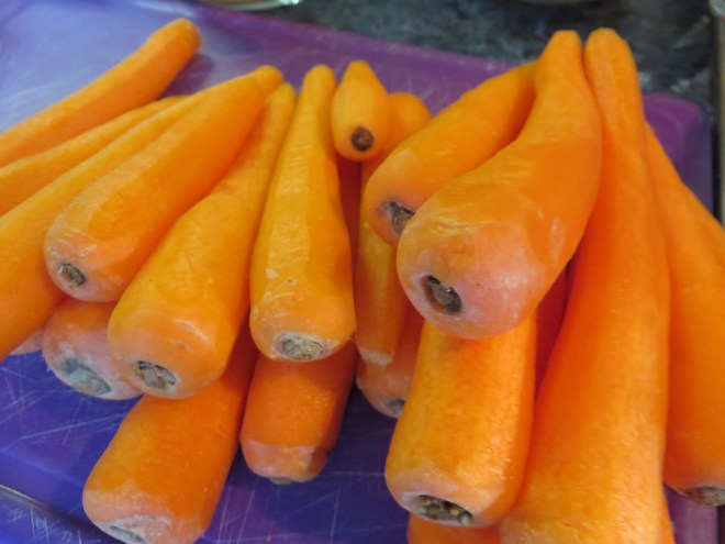 Grandads Carrot Soup - Peeled Carrots