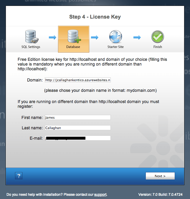 Kentico license key