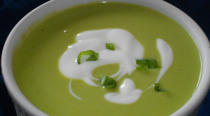 Green Pea Chowder or Green Pea Soup to some