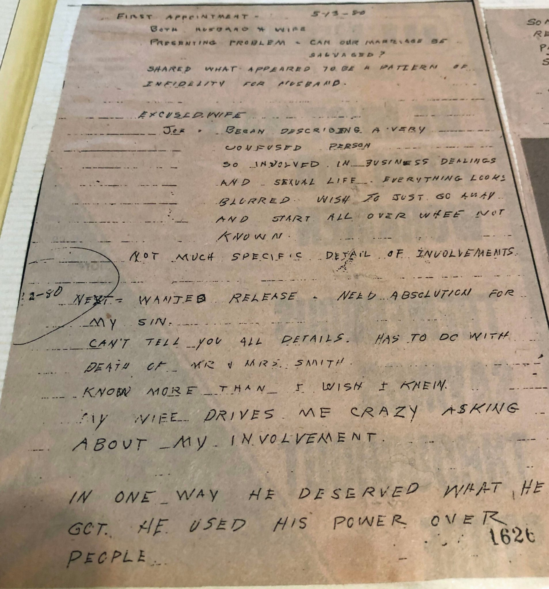 Rev Don Mikel notes, Ventura 1981