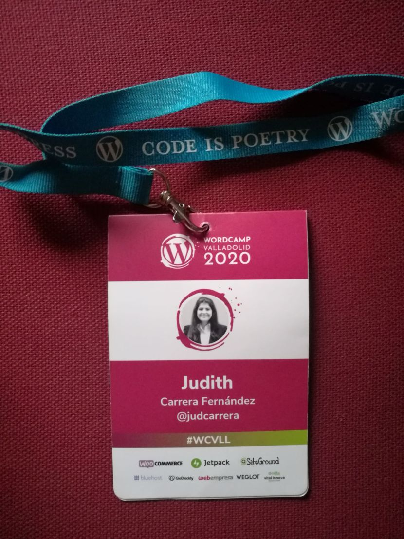 Acreditación de la WordCamp Valladolid