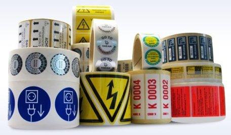 Image labels… Photo: http://www.premierpaper.com/shop/custom-labels/