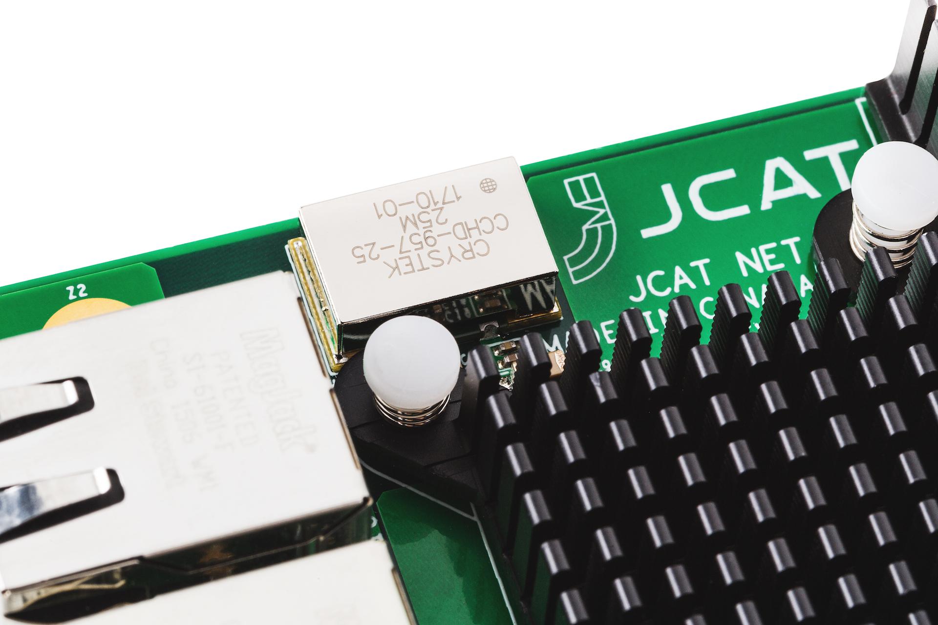 JCAT NET Card FEMTO. Hi-end network controller for music streaming. FEMTO clock