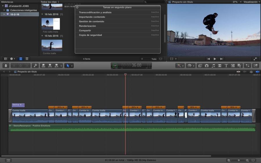 Este vídeo en FCPX. Para ver todavía más grande pinchar sobre la captura.