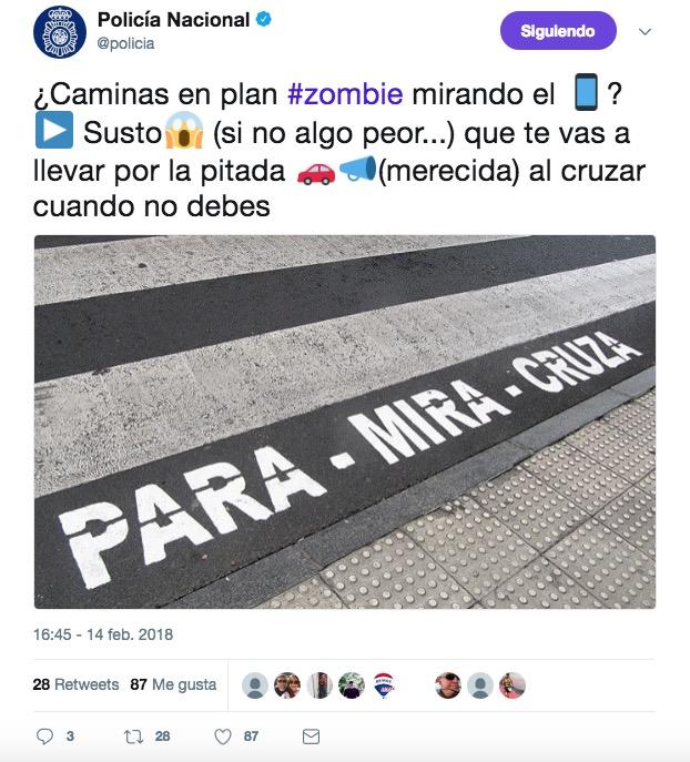 tweet policia