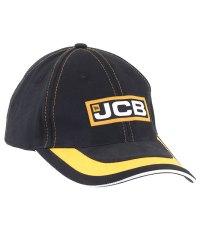JCB Black Yellow Curve Cap