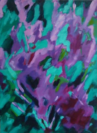 Floral-Huile sur toile-2016/01