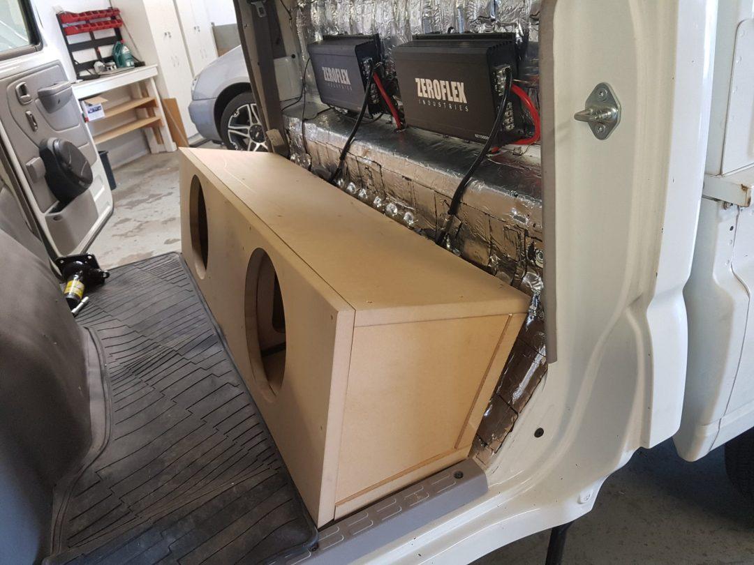 Toyota Hilux Dual Subwoofer Custom Enclosure