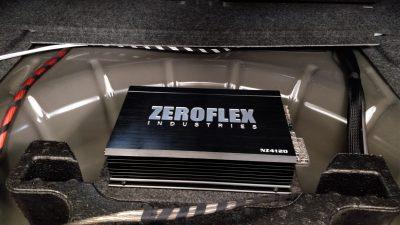 Ford Mustang Dual ZeroFlex Amplifier Setup