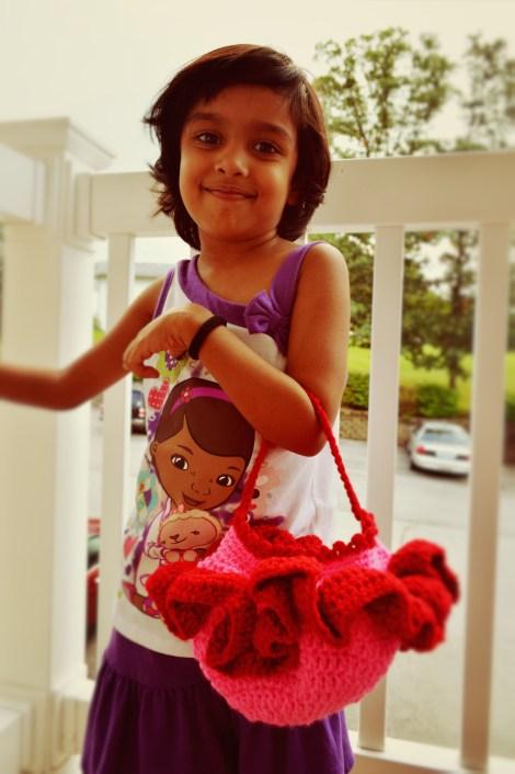 Tisha Singh with Ballerina Purse