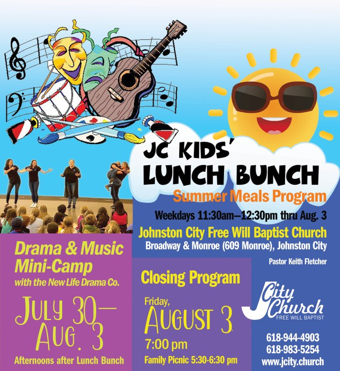 Lunch Bunch Grand Finale: A Free Drama & Music Mini-Camp