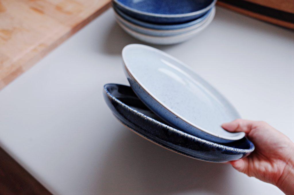 Denby 英國百年經典手工陶瓷餐具|2018 藍白藝匠四色系列/簡約米白/咖啡藝匠四色