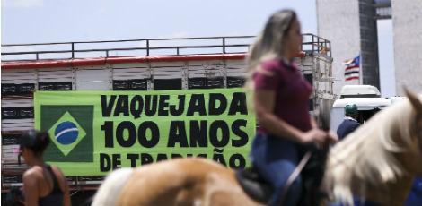 Na última terça-feira (11), houve ato de defensores da vaquejada pelo País / Foto: Marcelo Camargo/ Agência Brasil