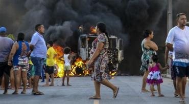 Pelos dados da Força Nacional, houve 442 ataques no Ceará entre 2 de janeiro e 31 de janeiro / Foto: Alex Gomes/O Povo/AFP
