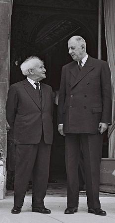 De Gaulle Ben Gourion en 1960