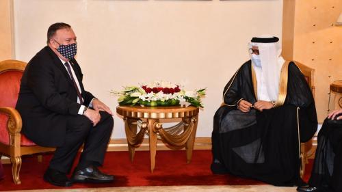 Abdullatif bin Rashid Al-Zayani accueille le secrétaire d'État américain Mike Pompeo à Manama
