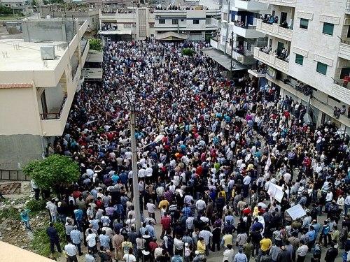 Manifestation dans la ville de Baniyas