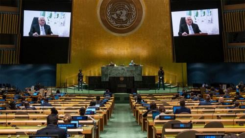 Mahmoud Abbas à l'ONU