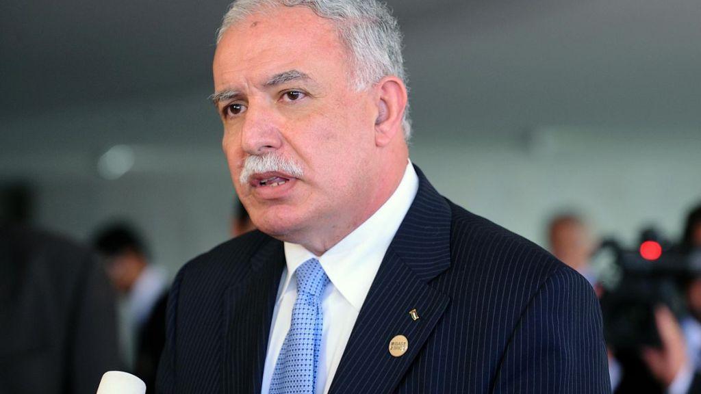 """שר החוץ הפלסטיני: לא היו """"ידיעות מרגיעות"""" מטראמפ"""